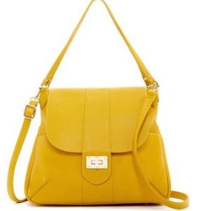 Boutique Pink Haley NEW Mustard Shoulder Bag Tote